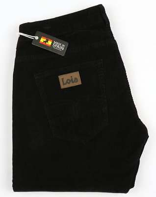 Lois Sierra Needle Cords in Black - cult 80s casual Spanish denim jeans brand