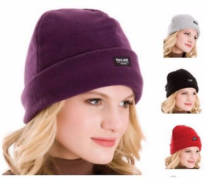 LADIES Thinsulate FLEECE HAT Thermal Fleece Mens Womens Winter Ski Insulated UK