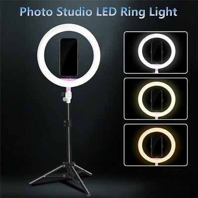 """8"""" LED Ring Light Kit with Stand Dimmable 5600K photography USB for Makeup Phone"""