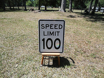 Custom MPH Speed Limit 100 MPH New Reflective Road Sign Great Bar Man Cave