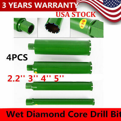 2.2'' 3'' 4'' 5''Wet Diamond Core Drill Bit for Concrete Premium Series 4PCS US