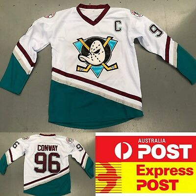 Ice Hockey Anaheim Mighty Ducks #96 Conway jersey, white