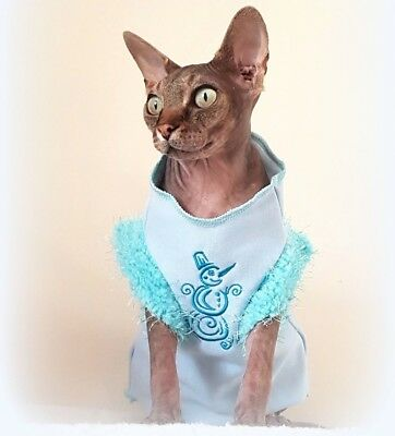 adult XL SNOWMAN Warm winter top for a Sphynx  cat clothes, pet jumper HOTSPHYNX