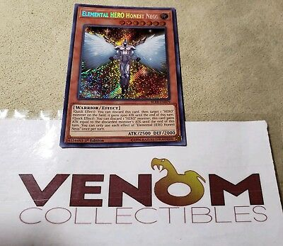 1x (M/NM) Elemental HERO Honest Neos BLRR-EN079 Secret Rare 1st Edition YuGiOh