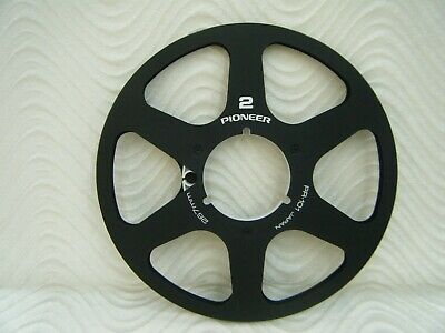 "Black Pioneer PR-101 Anodized Aluminum Metal 10.5"" Reel for 1/4"" tape  Made USA"