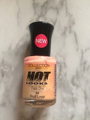 Collection 2000 Hot Looks Nail Polish Fast Dry, #46 Fruit Loop, Size 8ML