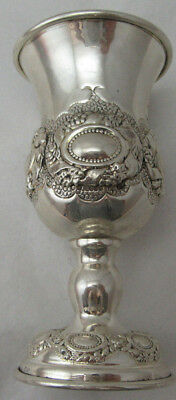 Sterling Silver 925 Kiddish Cup With Elegant Details On Stem 74 GRAMS