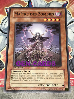 Carte YU GI OH MAITRE DES ZOMBIES SDZW-FR016