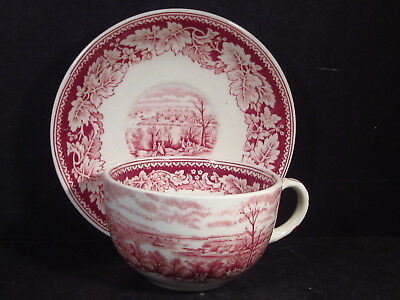 Vintage Homer Laughlin Currier & Ives CUP AND SAUCER View Of New York