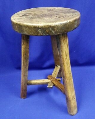 Antique French Oak Milking Stool