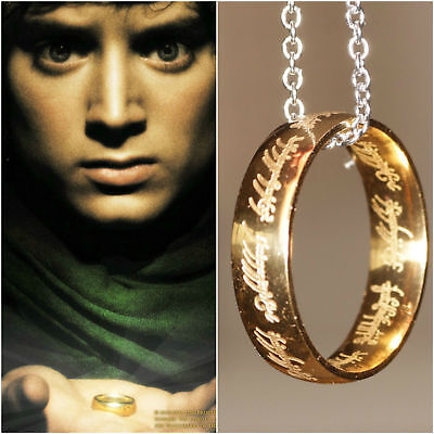 Frodo The One Ring Necklace Costume Outfit Halloween Cosplay Gandalf Hobbit