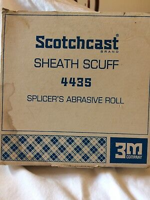 "3m Scotchcast 4435 Sheath Scuff Splicer's Abrasive Roll 1"" X 25 Yd New Old Stock"
