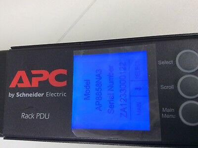 APC AP8858NA3 Metered  Rack Power Strip PDU.  (C23)