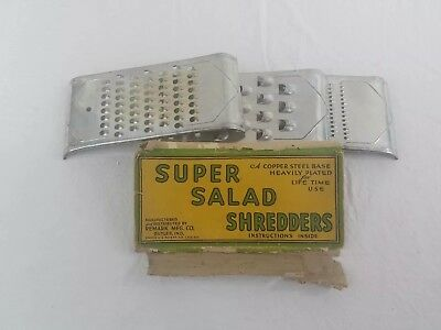 Vintage SUPER Salad Shredders Set of 3