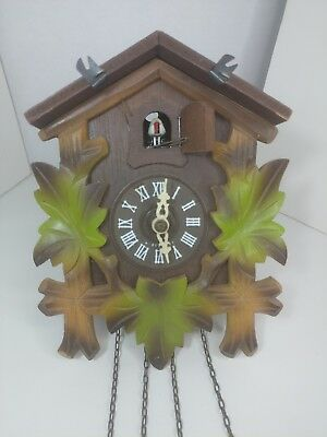 Vintage cuckoo clock with JMIUS movement. Uhren Hauser West Germany. *Incomplete