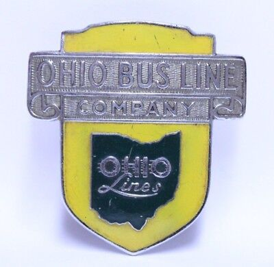 Nice Early Ohio Bus Line Company Driver Hat Or Shirt Badge