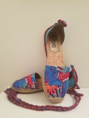 294175c2a CIRCUS by SAM EDELMAN Blue Multi Color Gladiator Sandals Size 9.5M