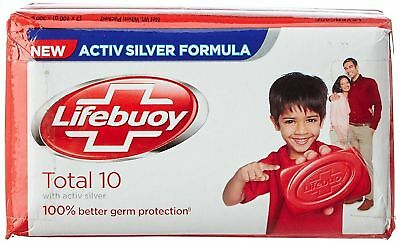 Lifebuoy soap NEW ACTIVE SILVER FORMULATION 100% germ protector