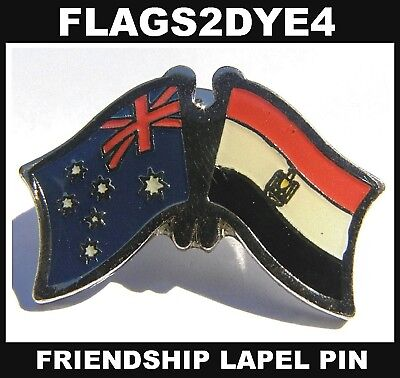 Australia flag Egypt Egyptian lapel pin badge INCLUDES AUSTRALIA POST TRACKING