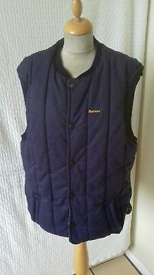 Barbour quilted blue gilet WAISTCOAT size M chest 42