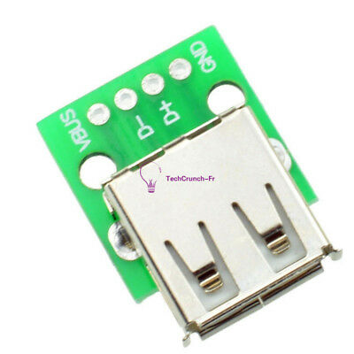 5PCS  Type A Female USB To DIP 2.54MM PCB Board Adapter Converter