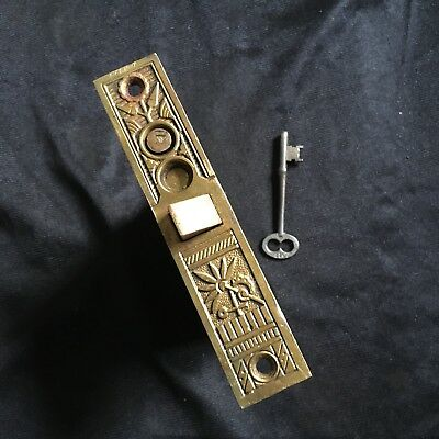 Antique Nashua Cast Bronze Collectible Vestibule Mortise Lock