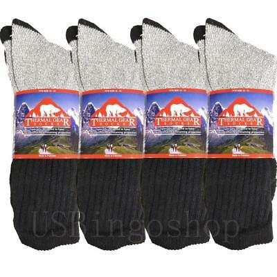12 Pairs Men's Cotton Winter Warm Crew Thick Boot Thermal Socks Outdoor 10-15