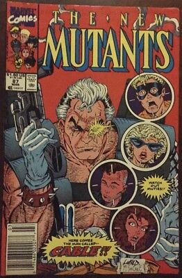 The New Mutants #87 1St Appearance Of Cable 1St Print 9.0 Vf/nm Condition!