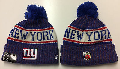 2018 New York Giants New Era NFL Knit Hat On Field Sideline Beanie Stocking  Cap a21d6f27316