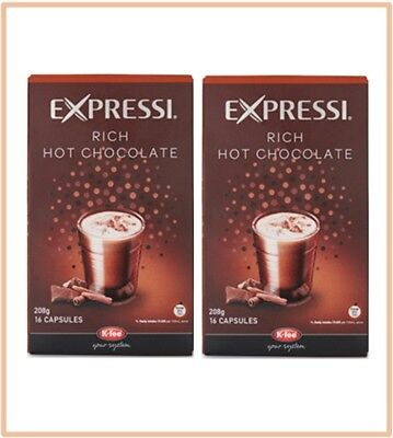 32 Capsules (2 boxes) Aldi Expressi Rich Hot Chocolate Pods