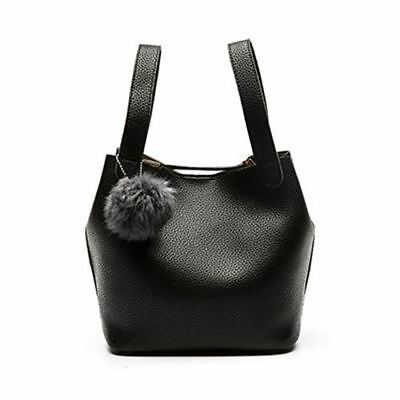 Women New Fashion Pu Leather Tassel Decorated Small Bucket Shape Top-handle Bag