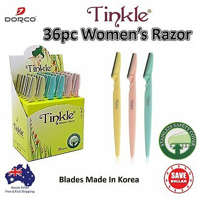 36 Genuine Dorco Tinkle Facial Eyebrow Razor Trimmer Women Shaver Hair Tool Bulk