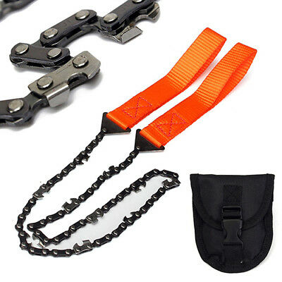 Survival Chain Saw Hand ChainSaw Emergency  Pocket Gear Chic Camping Tool kits