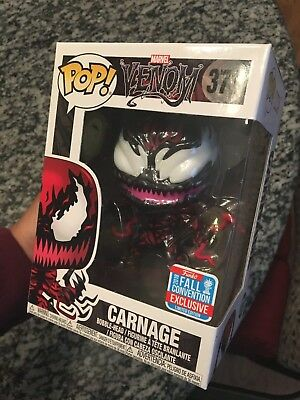 Funko Marvel Venom Pop! Carnage Vinyl Bobble-Head 2018 Fall Convention Exclusive