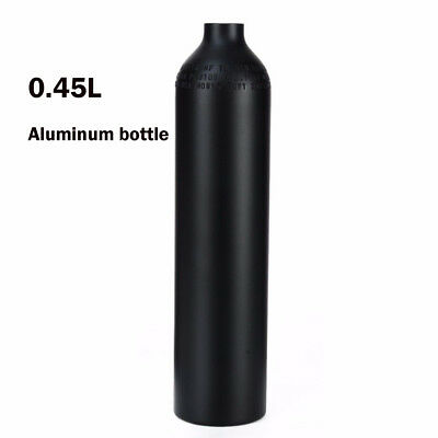 0.45L 4500psi Aluminum Tank Alloy Gas Bottle High Pressure PCP Airsoft Paintball
