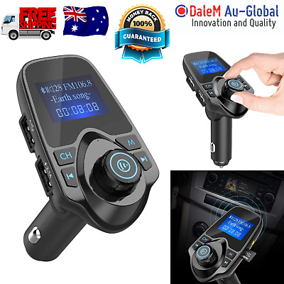 Nulaxy Bluetooth Car FM Transmitter Audio Adapter Receiver Wireless Handsfree