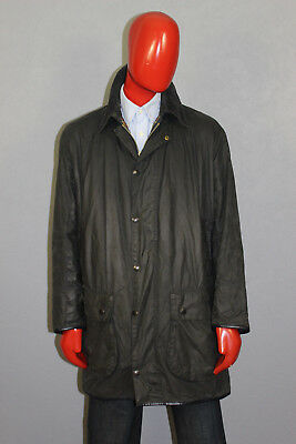 Vintage Mens Barbour Border Waxed Jacket Blue Size c42/107 cm