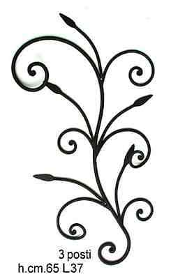 Coat hangers coat racks a 3 places wrought iron wall Lily mod. vertical