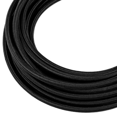 20AN / 20 AN Black Nylon Braided Flex Hose / Line, sold continuously by the foot
