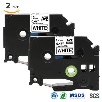 """2PK LABEL MAKER TAPE Compatible for BROTHER P-TOUCH TAPE TZ-231 TZe-231 0.47"""""""