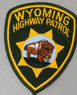 Wyoming Highway Patrol Embroidered Uniform Patch 4 1/2 x 3 1/2in