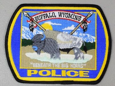 Embroidered Patch Buffalo, WY Police - Buffalo Wildlife, Multi-Color 5 1/4 x 4in