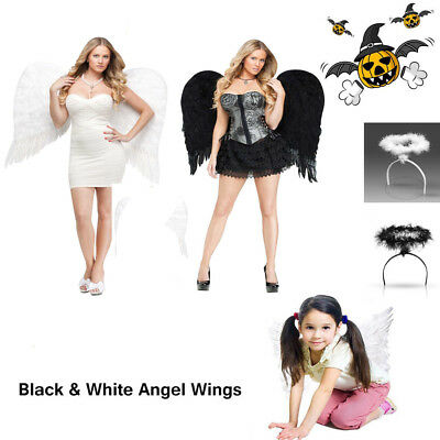 Halloween Angel Wings Costume Accessory Adult&Kids Feather Halloween Fancy Dress