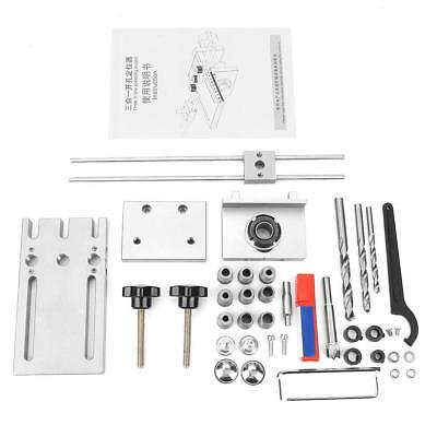 3 in 1 Self Centering Dowelling Jig Drill Guide Locator Set Kit for Woodworking