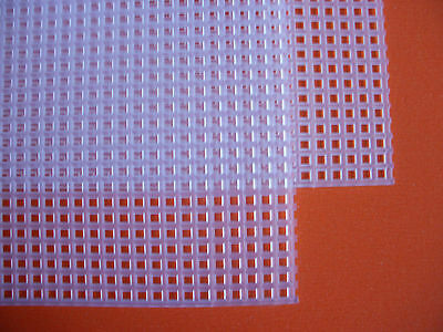 2 Sheets of Plastic Canvas Mesh - 7 Count - Each piece 26.7 cm x 16.8 cm - NEW