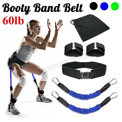 30~70Lbs Exercise Belt Booty Band Strap For Leg & Butt -Tone Firm Glutes Muscle