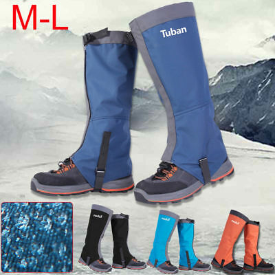 Waterproof Leg Gaiters Boot Shoe Non-slip Snow Outdoor Hiking Walking Climbing