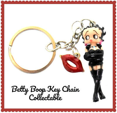 Betty Boop in Red Dress Up Marilyn Monroe Pose Key Ring NEW