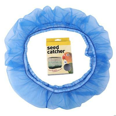 Nylon Mesh Bird Seed Catcher Seed Guard Mesh Bird Cage Cover Skirt Traps Cage WO