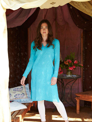 75% OFF SALE - Nomads - Long Embroidered Kaftan, Cheesecloth Cotton - ER49